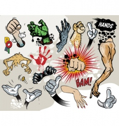 comic hands vector image