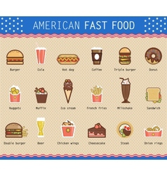 Various unhealthy american vector