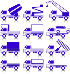 Transportation symbols vector