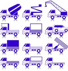 transportation symbols vector image