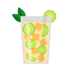 Lime drink vector