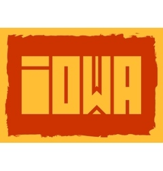 Iowa state name vector
