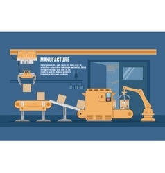 Automated Assembly line Design vector image vector image