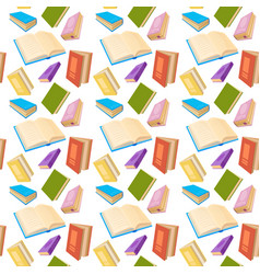 books reading education seamless pattern vector image