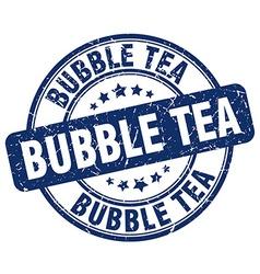 Bubble tea blue grunge round vintage rubber stamp vector