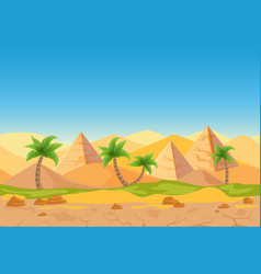 cartoon nature sand desert game style vector image