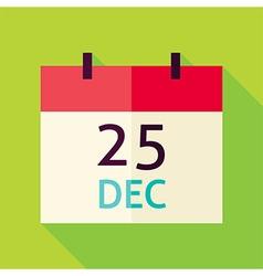 Flat Design Christmas Calendar Icon vector image