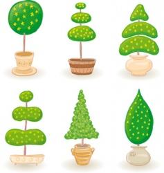 garden trees vector image vector image