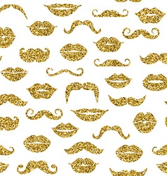 Glitter seamless fashion pattern in gold vector
