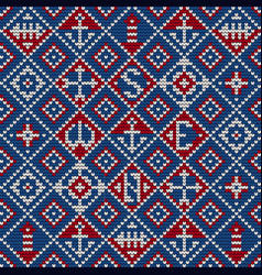Grandma knitting pattern for ugly sweater vector