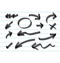 hand draw arrow vector image