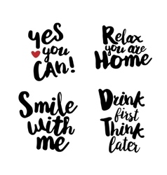 Hand lettering set for fun vector image vector image