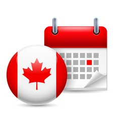 Icon of national day in canada vector
