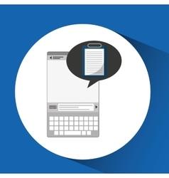 Mobile device health care checklist vector