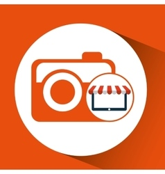 online shop camera photographic design icon vector image vector image