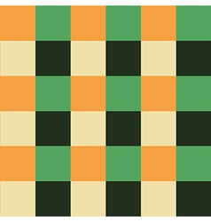 Orange green chess board background vector
