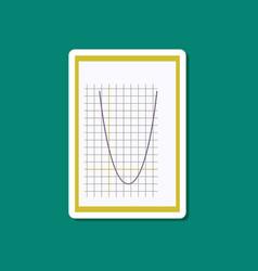 Paper sticker on stylish background mathematics vector