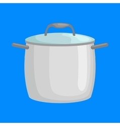 Saucepan for cooking food at kitchen empty vector