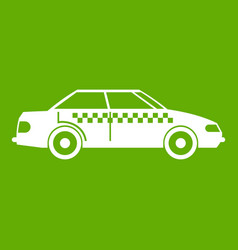 taxi icon green vector image