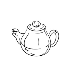 Teapot hand draw vector image vector image