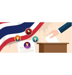 Thailand thai democracy political process vector