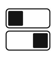 Toggle switch on off position icon simple style vector