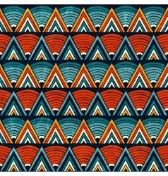 Tribal ornament in vibrant colours Seamless vector image vector image