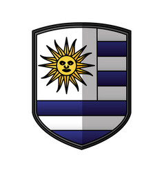 uruguay flag isolated icon vector image vector image