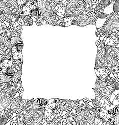 Leaf Frame Sketch vector image