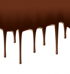 hot chocolate drips vector image