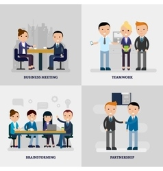 Business people flat concept vector