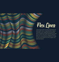 Warped lines background flexible vector
