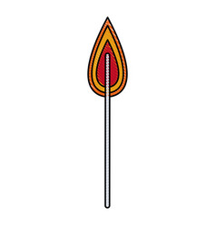 Drawing flame fire laboratory experiment image vector