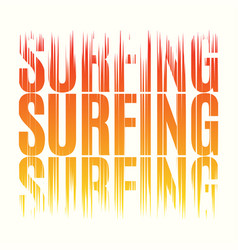 Surfing tee print t-shirt design graphics stamp vector