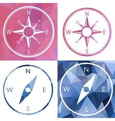 Icon in crystal style compass vector