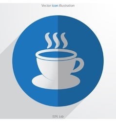 Hot drink web flat icon vector