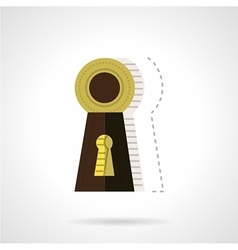 Keyhole flat color icon vector
