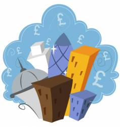financial london vector image
