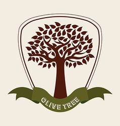 Olive tree design vector