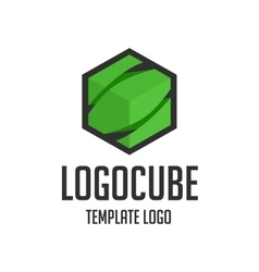 Template logo cube vector