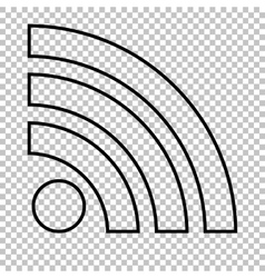 Rss sign icon vector