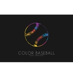 Baseball ball logo sport logo baseball creative vector