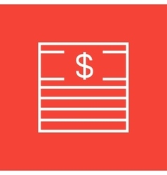 Stack of dollar bills line icon vector
