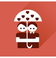 Flat web icon with long shadow young couple vector