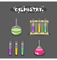 Chemistry isolated test-tubes vector