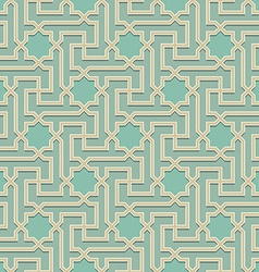 Arabic pattern seamless ornament vector image vector image