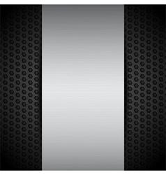 brushed metallic panel on black mesh vector image