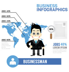 Businessman info graphics vector