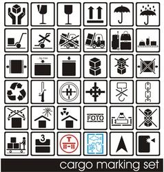 Cargo marking icons vector