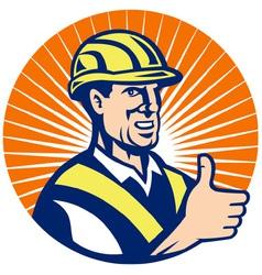 Construction hardhat thumb up vector